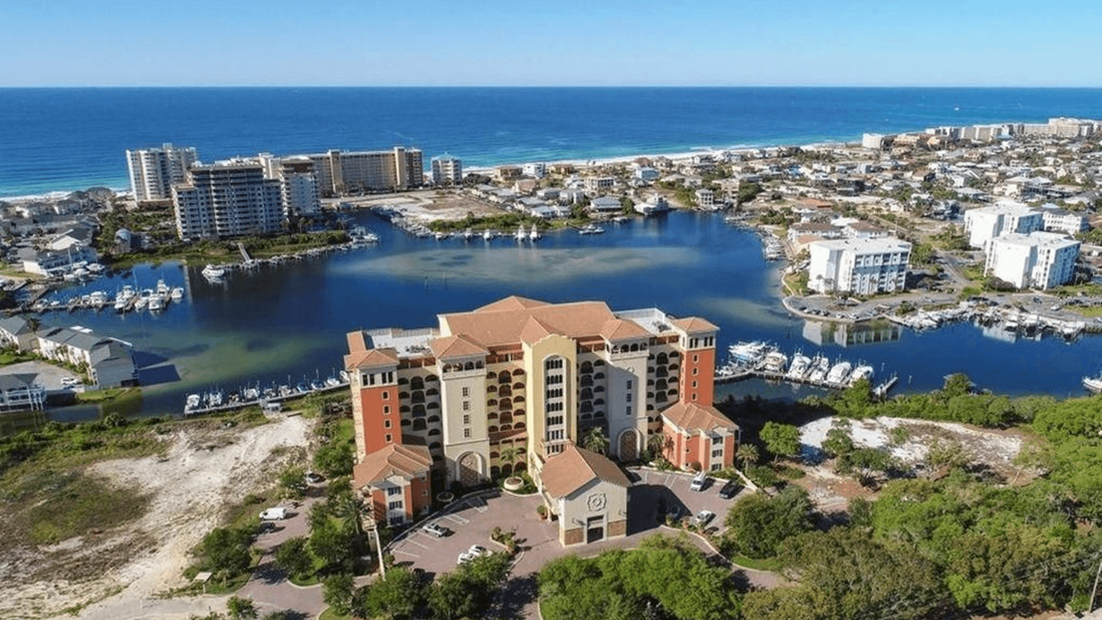 Ariel view of Marbella Condo Destin.